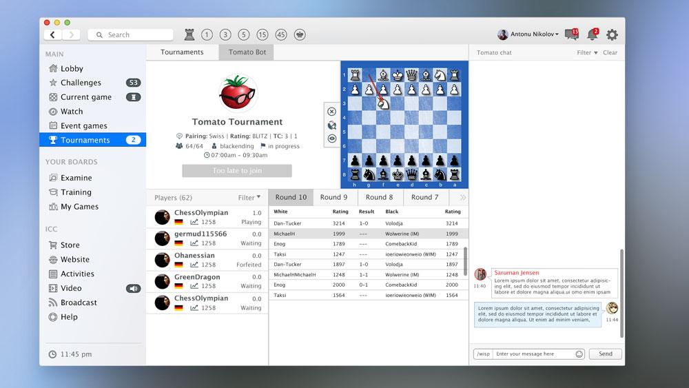 Tournaments UI