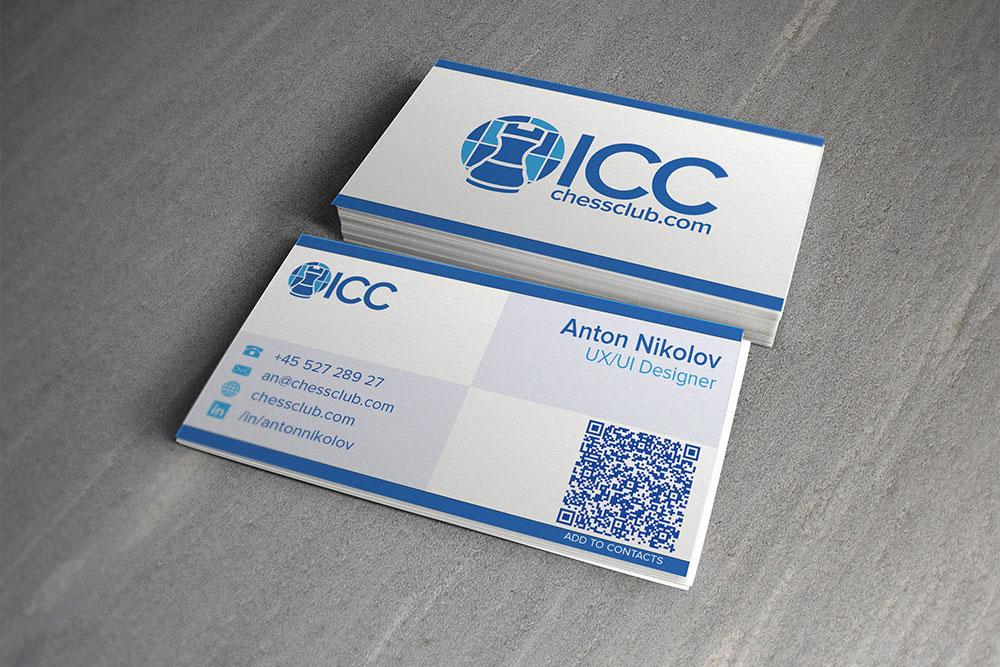 ICC business cards design