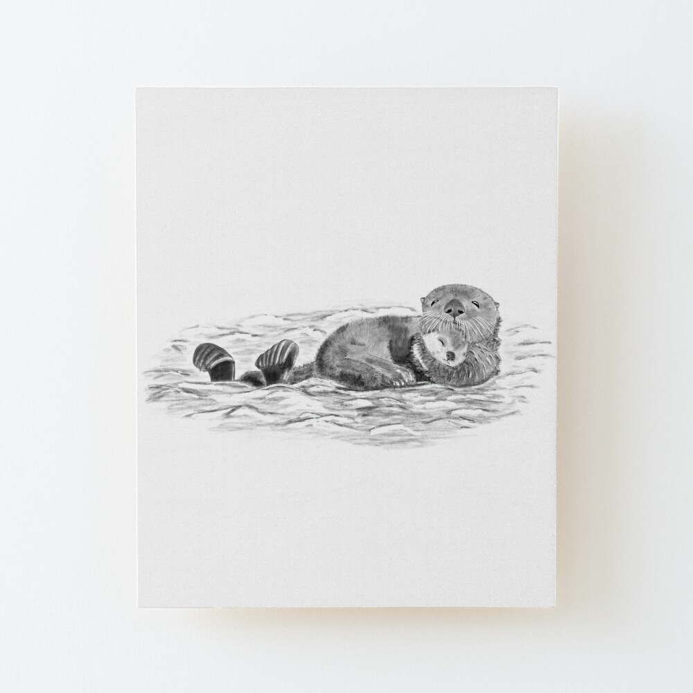 Otter mom work canvas