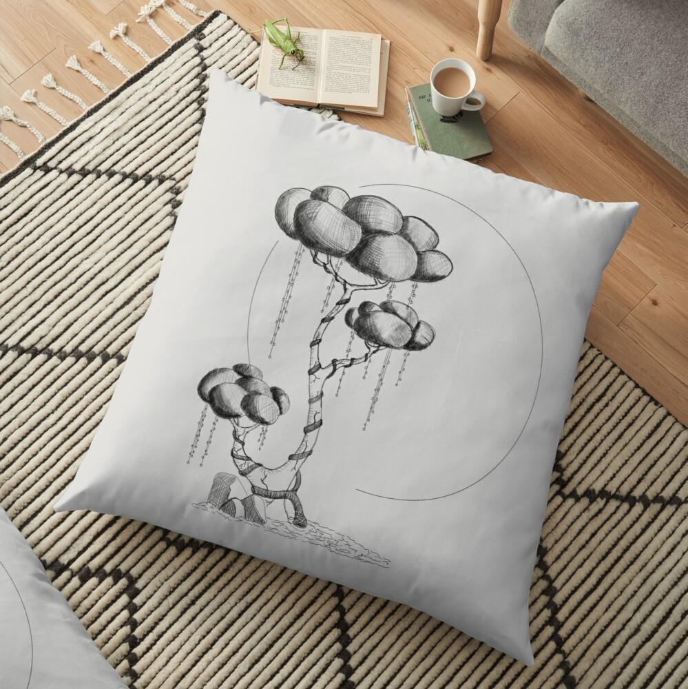 sci-fi tree -floor-pillow