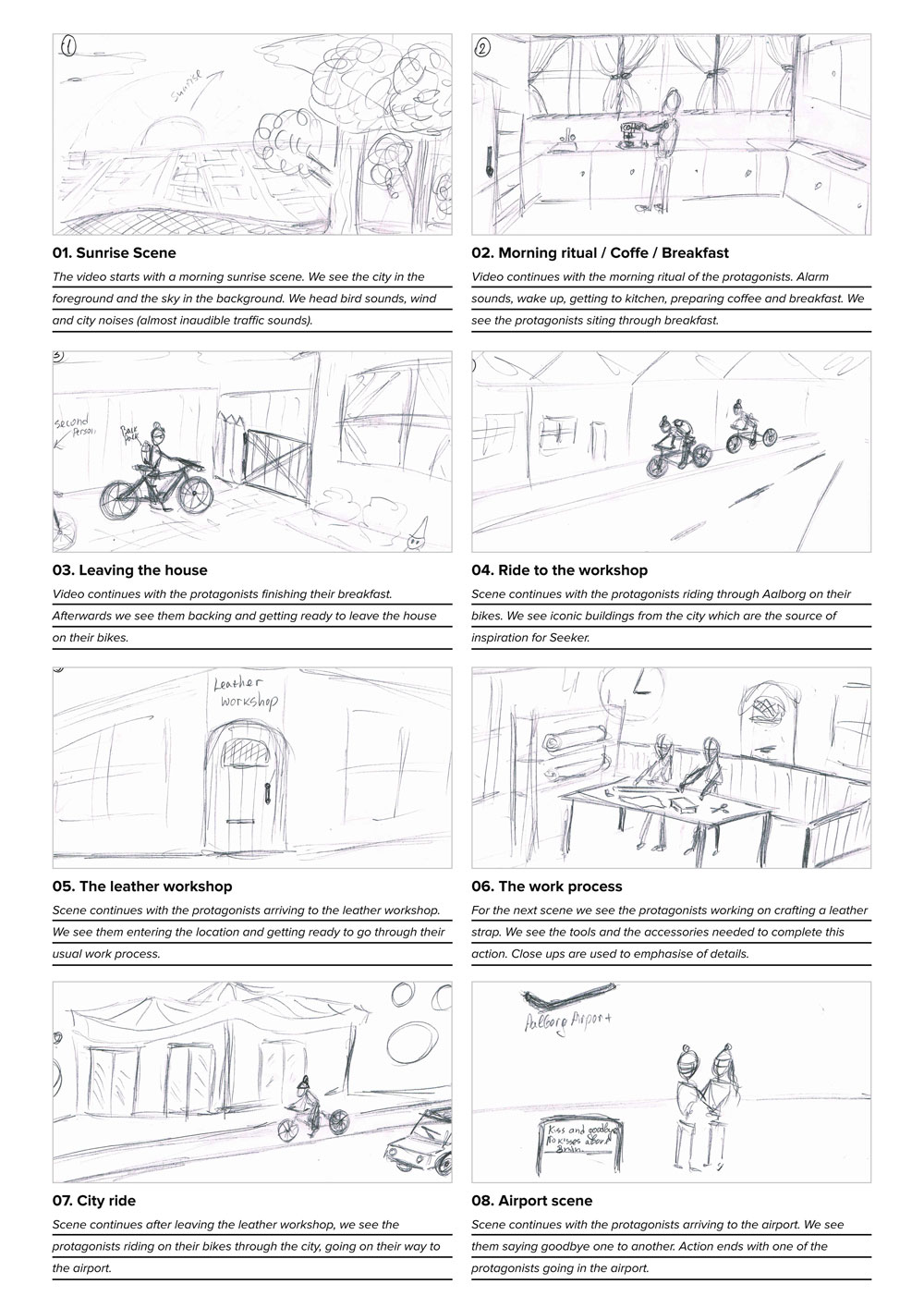 Storyboarding for video production