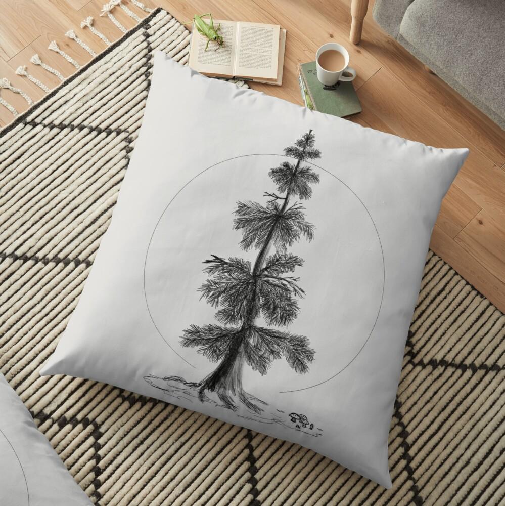 ever green tree-floor-pillow